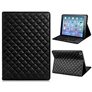 Soft Grid Pattern Protective PU and TPU Leather Case Cover Stand for iPad Air  (Assorted Colors)