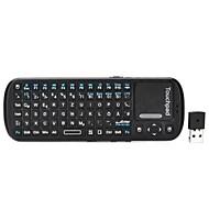 ipazzport KP-810-19 Germany + English Language Mini Wireless 2.4GHz 84-Keys Keyboard - Black