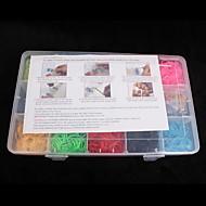 bandas baoguang®loom tamaño pequeña banda de goma multicolor c para niños (3000pcs, color al azar)