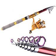 2.4M Carbon Red Sea Fishing Medium Light  Fishing Rod