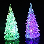 Coway Crystal Julgran ljus färgglada LED Night Light Small Tree Lampa
