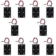 Hotsale CM01 Professional Capless DIY 3 X AAA Battery Holder Case Box with Lead/Line (10 PCS)