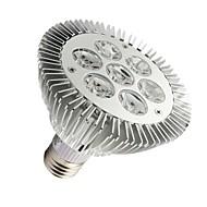 LOHAS Lâmpada PAR Regulável E26/E27 7 W 630-680 LM 2800-3200K K Branco Quente 7 LED de Alta Potência AC 100-240 V PAR