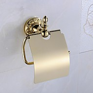 Toilet Paper Holder Ti-PVD Wall Mounted 13*6*17cm(5*2.3*6.7inch) Brass Antique
