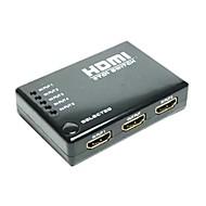 5 Port HDMI V1.3 Switch Switcher Selector Splitter Hub Box Remote 1080p for HDTV PS3