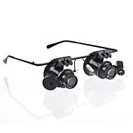 Glasögon Typ 20X förstoring med vitt LED-ljus (4xCR1620)