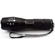 Cree XM-L T6 LED 2000 ANSI Zoomable Flashlight Powered by bateria AAA lub 18650