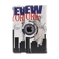 Kinston 360 Degree Rotatable Live in New York Pattern PU Leather Full Body Case with Stand for iPad Air