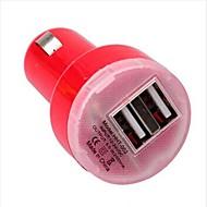 double chargeur de voiture USB onduleur mini pour samsung / iphone / ipad et autres (5v 1a/2.1a)