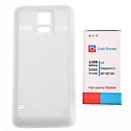 Link Drøm 7800mAh Fortykket mobiltelefon batteri + Glossy White Back Cover til Samsung I9600 S5 (EB-BG900BBC)