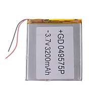 """Universal Replacement 3.7V 3200mAh  Li-polymer Battery for 7~10"""" Macbook Samsung Acer Sony Apple Tablet PC (4*95*75)"""