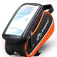 携帯電話バッグ / 自転車用フロントバッグ (ブラック / オレンジ , ポリエステル / PVC / EVA) 防水 / 耐久性 / タッチスクリーン サイクリング