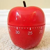 """Red Apple Shaped Mechaniczny minutnik kuchenny, z tworzyw sztucznych 2.4 """"X2.4"""" X4.12 """""""