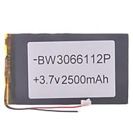 """Universal Udskiftning 3.7V 2500mAh Li-polymer Batteri til 7 ~ 10 """"Macbook Samsung Acer Sony Apple Tablet PC (03 * 66 * 112)"""