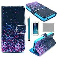 のために iPhone 5ケース ウォレット / カードホルダー / スタンド付き / フリップ / パターン ケース フルボディー ケース カラーグラデーション ハード PUレザー iPhone SE/5s/5