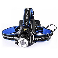 Headlamps LED 1 طريقة 4000 شمعة Impact Resistant  / فص الموضع المصطدم Cree XR-E Q5 18650 / AACamping/Hiking/Caving / أخضر / عامل / متعددة