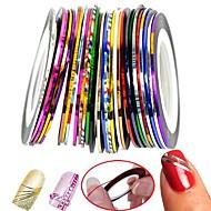 30Pcs Mixed Colors Rolls Striping Tape Line Nail Art Decoration Sticker
