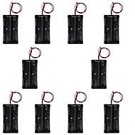 CM01 diy 2-18.650 casi porta batteria / scatole w / line - nero (10 pz)