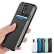 Solid Color PC Hard Case  with Slide and Card Slot for Samsung Galaxy S5 I9600 (Assorted Colors)