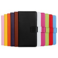 Solid Color Pattern Genuine Leather Full Body Case with Stand And Card Slot for Nokia Lumia 630