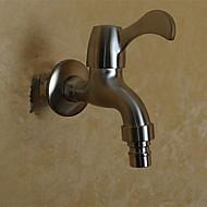 Çağdaş paslanmaz çelik 304 bibcock tek soğuk duvar çamaşır makinesi musluklar