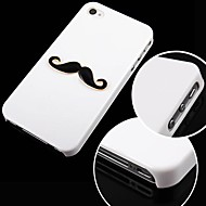 Mustache Pattern Black Frame Back Case for iPhone 4/4S