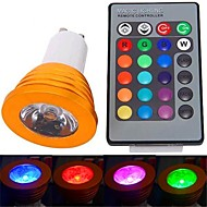 GU10 3 W 1 High Power LED 180 LM RGB Remote-Controlled Spot Lights AC 85-265 V