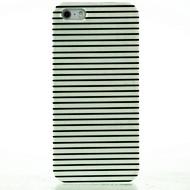 noir& cas dur rayures blanc de motif pour iphone 5/5 ans