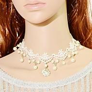 Γυναικεία Κολιέ Τσόκερ Κολάρα Vintage Κολιέ Κολιέ Δήλωση Μαργαριτάρι Δαντέλα Νυφικό Μοντέρνα Κοσμήματα Γάμου Πάρτι 1pc