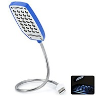360 ângulo ajustável super brilhantes Mini USB Powered graus luz conduzida da noite (azul)