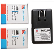 Link Dream  2 x Cell Phone Battery+Charger  for Samsung Galaxy Note 1 i9220/n7000/i717/T879 (3100 mAh)