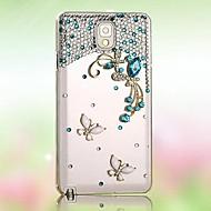 διαμάντι πεταλούδα πίσω κάλυψη περίπτωσης για i9600 Samsung Galaxy S5