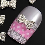 10pcs 3D glitting rhinestone butterfly diy legering tilbehør til fingerspidserne nail art dekoration