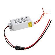 0.3a 4-7w dc 10-25v al conductor constante externa ac 85-265v actual fuente de alimentación para la lámpara del panel llevada