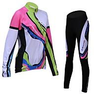 REALTOO Ciclismo Conjuntos de Roupas/Ternos / Camisa / Meia-calça Mulheres Moto Respirável / Forro de Velocino / Mantenha QuenteManga