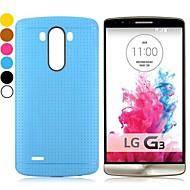yksivärinen silmukkakuvio muotoilu geeli TPU takakansi asia LG G3 D850 (eri värejä)