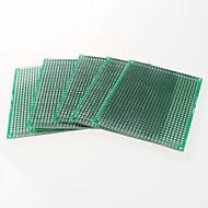 dupla face 2,54 milímetros arremesso PCB 5 x 7cm - verde (5pçs)