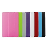 Folding Stand Leather Slim Smart and Crystal Transparent Hard Back Case Cover for iPad Air /iPad 5(Assorted Colors)