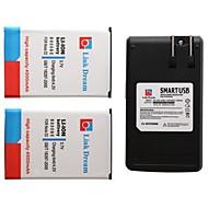 Link Traum 2 x Handy-Akku + Ladegerät für Samsung N9000 n9005 n9002 galaxynote3 n900 n900a (4500 mAh)