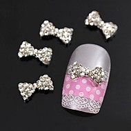 10pcs  Glitting Rhinestone Bow Tie DIY Alloy Accessories For Finger Tips Nail Art Decoration