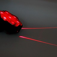 7-Mode 7-LED Double Line Bike Laser Tail Lamp (Red)