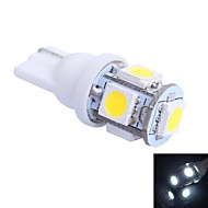 T10 1W 100LM 5×5050 SMD LED Color Light for Car Dashboard / Door / Trunk Lamps (DC 12V,, 1Pcs)