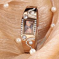 Relógio de Pulso Feminino Estilo Bracelete Analógico Quartz de Metal (Bronze)