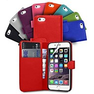 tegnebog kortholderen pu læderetui til iPhone 6 plus (assorterede farver)