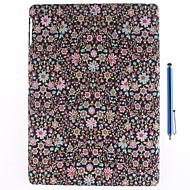Small Broken Flower Design Textile Cloth Art Back Case and Capacitance Pen for iPad Air