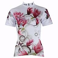 PALADIN® Cykeltrøje Dame Kort Ærme Cykel Åndbart / Hurtigtørrende / Ultraviolet Resistent Trøje / Toppe 100% Polyester Blomster / botanik