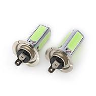 H7 Araba Mavi 24W Yüksek Performans LED 7000-7500 Çift Taraflı lamba Sis Farı Sinyal Lambası Fren Işığı