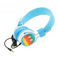 wzs- ergonomiska hi-fi stereo hörlurar med mikrofon mikrofon - blå