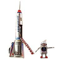 tinn skyexpress rakett og astronaut opptrekkbare leker for innsamling