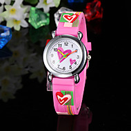 Children's Watch Heart Pattern Pink Silicone Strap Cool Watches Unique Watches Fashion Watch